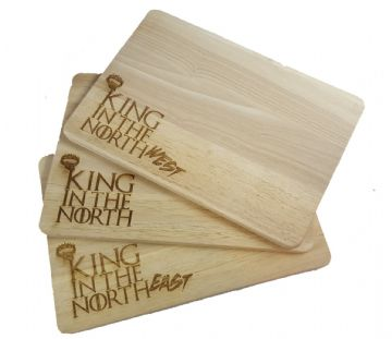 "Game of Thrones Inspired ""King In The North"" Chopping Board"